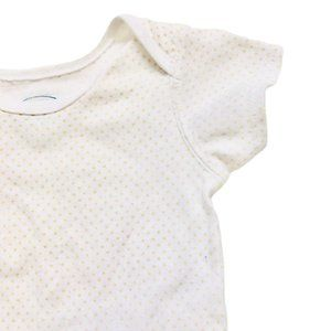 Children's Place White w/Gold Polkadot Onesie